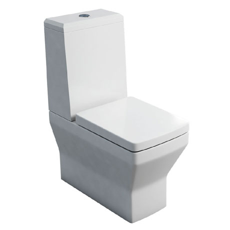 Britton Bathrooms - Cube S20 Close Coupled Toilet with Angled Lid Cistern & Soft Close Seat