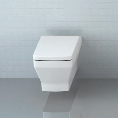 Britton Bathrooms - Cube S20 Wall Hung WC with Soft Close Seat profile large image view 3