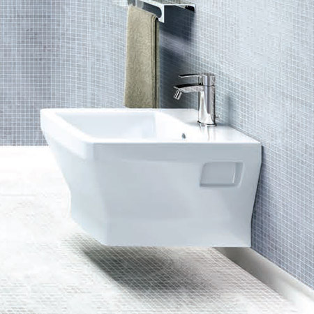 Britton Bathrooms - Cube S20 Wall Hung Bidet - 20.1951 profile large image view 2