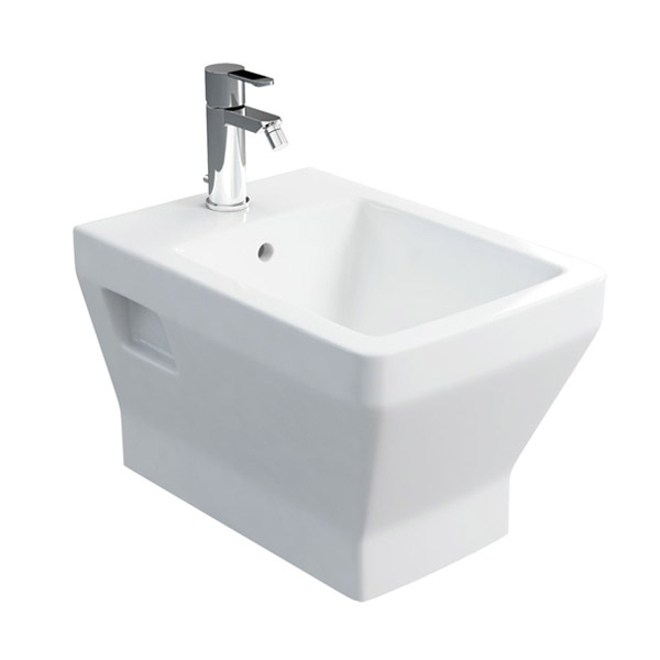 Britton Bathrooms - Cube S20 Wall Hung Bidet - 20.1951 Large Image