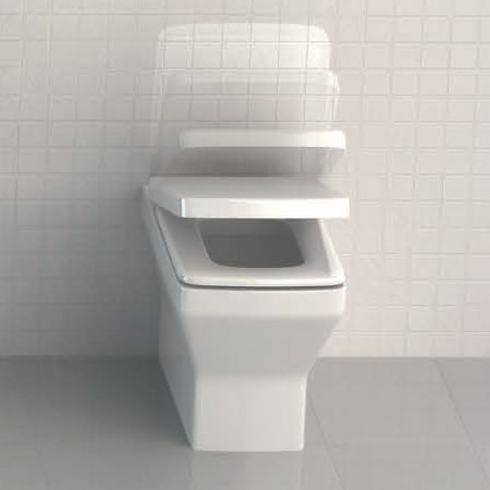 Britton Bathrooms - Cube S20 Back to wall WC with Soft Close Seat Profile Large Image