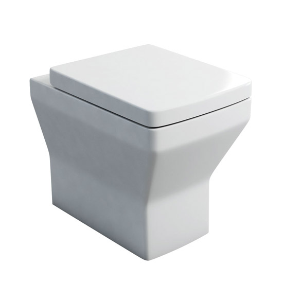 Britton Bathrooms - Cube S20 Back to wall WC with Soft Close Seat Large Image
