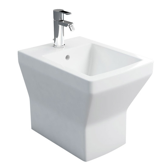 Britton Bathrooms - Cube S20 Back to Wall Bidet - 20.1953 profile large image view 1