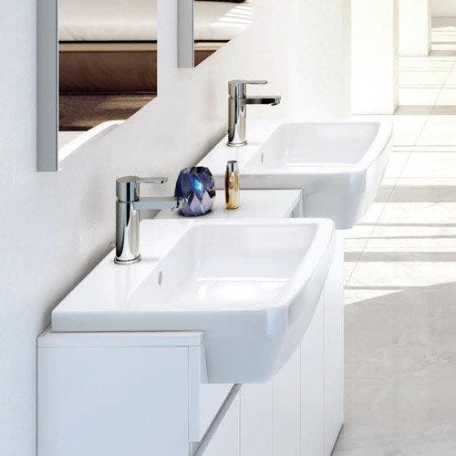 Britton Bathrooms - Cube S20 Semi Recessed basin 55cm - 20.1954 profile large image view 3