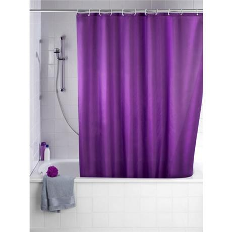 Wenko Plain Purple Polyester Shower Curtain - W1800 x H2000mm - 20035100