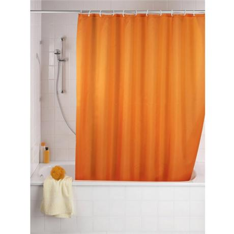 Wenko Plain Orange Polyester Shower Curtain - W1800 x H2000mm - 20039100