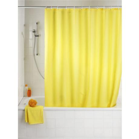 Wenko Plain Yellow Polyester Shower Curtain