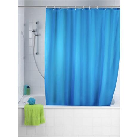 Wenko Plain Marine Polyester Shower Curtain - W1800 x H2000mm - 20041100