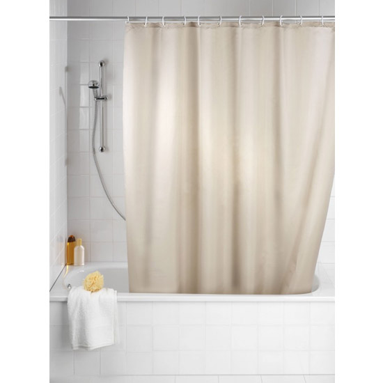Wenko Plain Beige Polyester Shower Curtain - W1800 x H2000mm - 20045100 Large Image