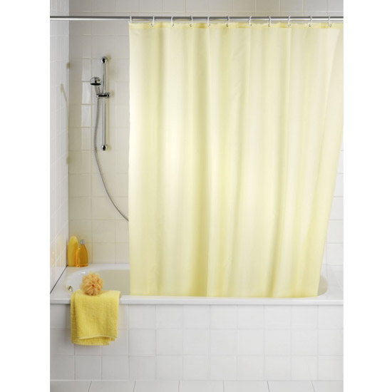 Wenko Plain Champagne Polyester Shower Curtain - W1800 x H2000mm - 20046100 Large Image