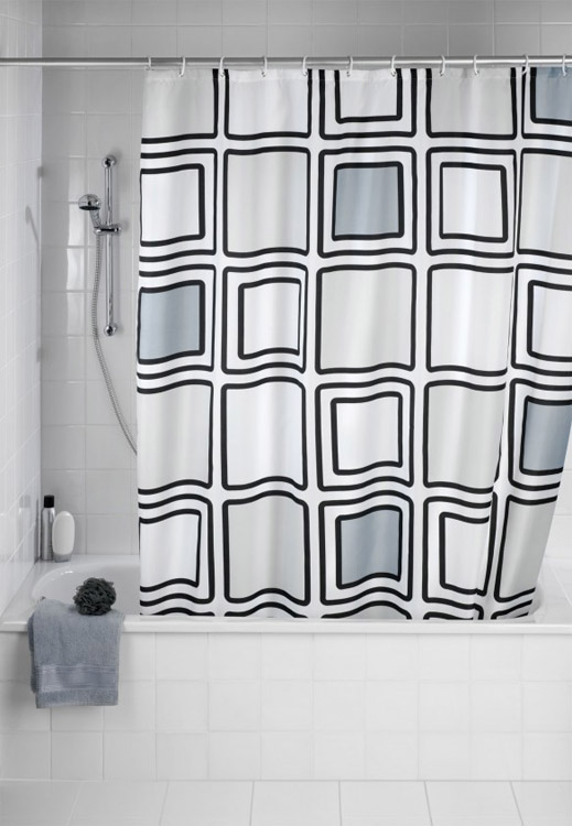 Wenko Mono Polyester Shower Curtain -W1800 x H2000mm - 20049100 Large Image