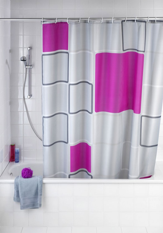 Wenko Abstract Polyester Shower Curtain - W1800 x H2000mm - 20056100 Large Image