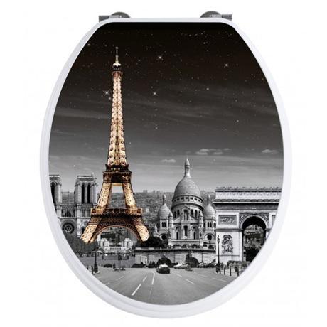 Wenko Paris 3d Design Duroplast Toilet Seat 20072100 At
