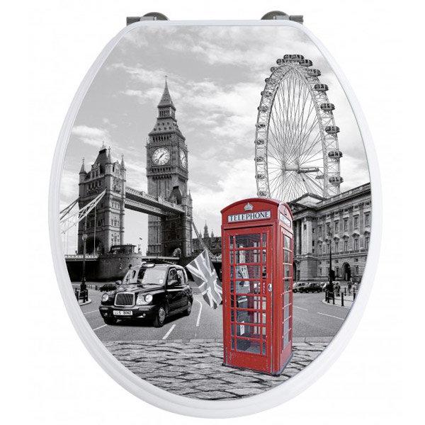 Wenko London 3D Design Duroplast Soft Close Toilet Seat - 20073100 profile large image view 1