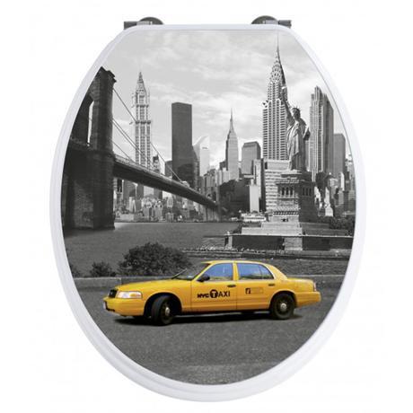Wenko New York 3D Design Duroplast Soft Close Toilet Seat - 20074100