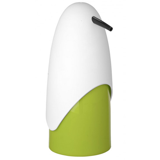 Wenko Penguin Soap Dispenser - White/Green - 20080100 Large Image
