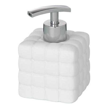 Wenko Cube Ceramic Soap Dispenser - White - 20085100