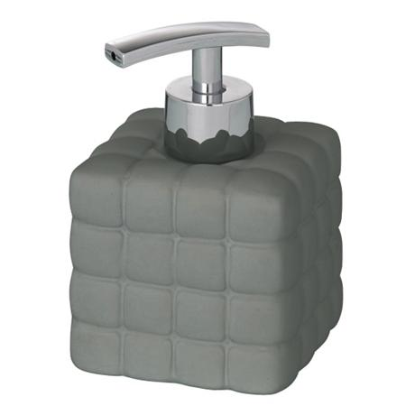 Wenko Cube Ceramic Soap Dispenser - Dark Grey - 20087100