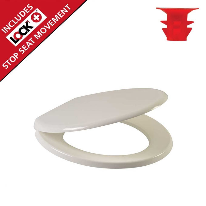 Wirquin Flamenco Lock+ Toilet Seat with Stainless Steel Hinges