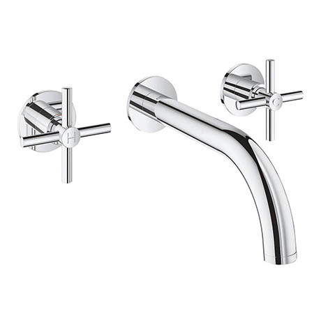 Grohe Atrio Wall Mounted 3 Hole Basin Mixer - Chrome - 20164003