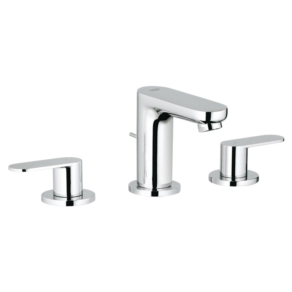 Grohe Eurosmart Cosmopolitan 3-Hole Basin Mixer with Pop-up Waste - 20187000 profile large image view 1