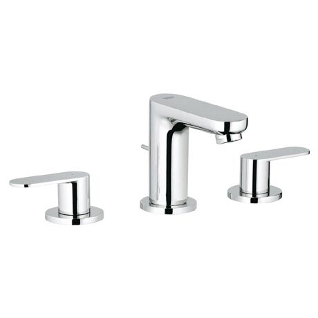 Grohe Eurosmart Cosmopolitan 3-Hole Basin Mixer with Pop-up Waste - 20187000