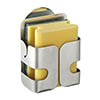 Wenko Turbo-Loc Stainless Steel Sponge Holder - 2020040100 profile small image view 1