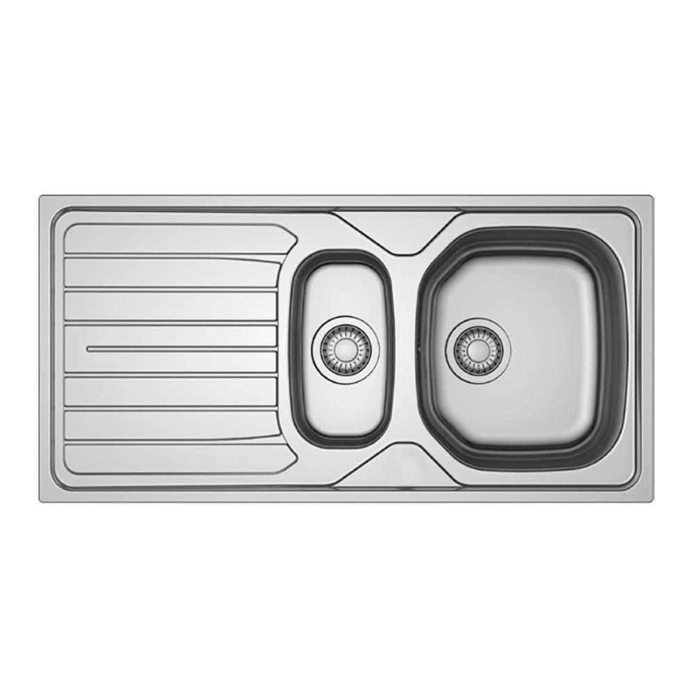 Franke 1.5 Bowl Single Drainer Stainless Steel Kitchen Sink inc. Waste