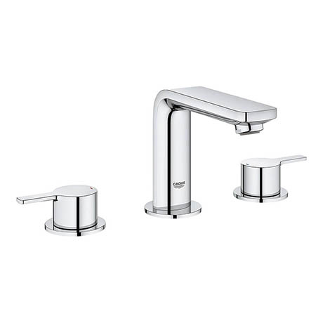 Grohe Lineare 3-Hole Basin Mixer with Pop-up Waste - 20304001