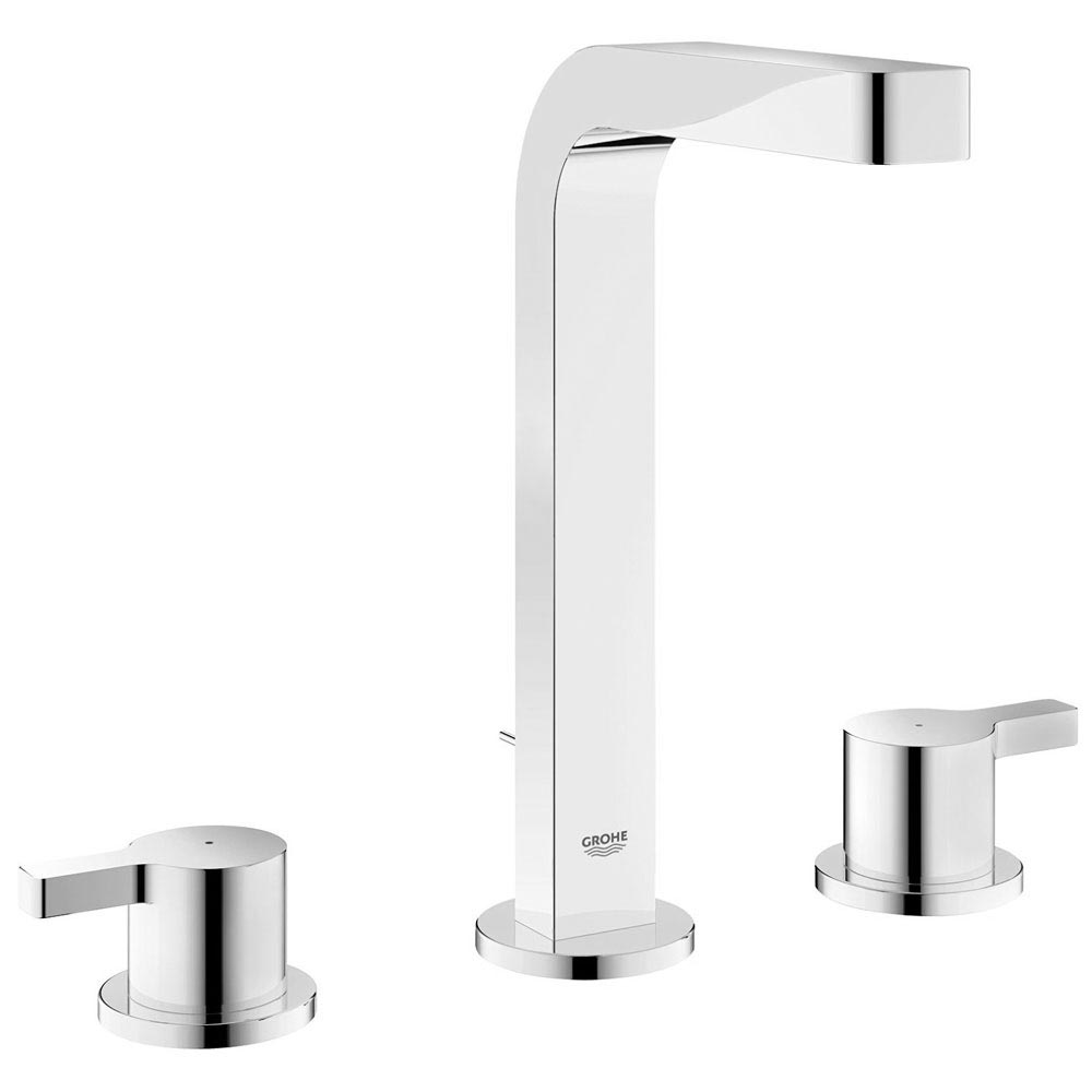Grohe Lineare 3-Hole Basin Mixer with Pop-up Waste - 20305000 Large Image