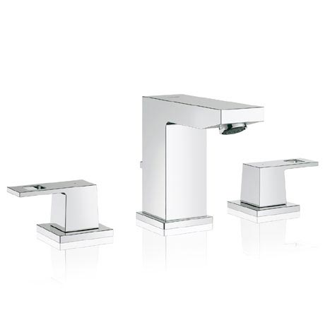 Grohe Eurocube 3-Hole Basin Mixer with Pop-up Waste - 20351000