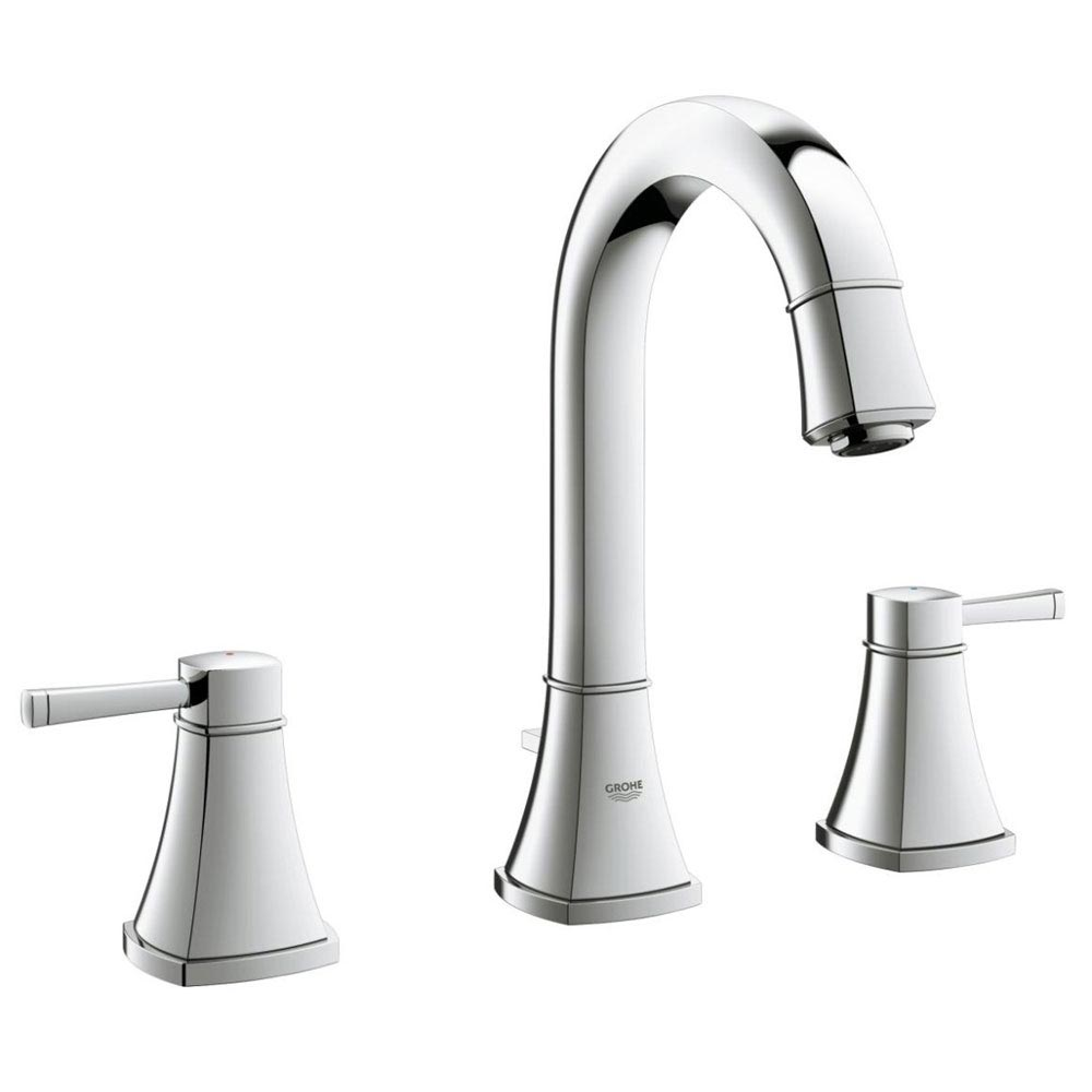 Grohe Grandera High Spout 3-Hole Basin Mixer with Pop-up Waste - Chrome - 20389000 Large Image