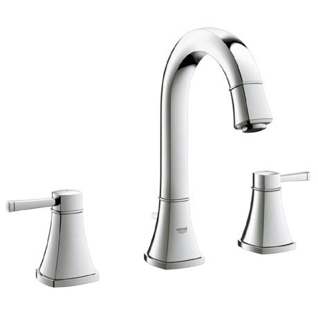 Grohe Grandera High Spout 3-Hole Basin Mixer with Pop-up Waste - Chrome - 20389000