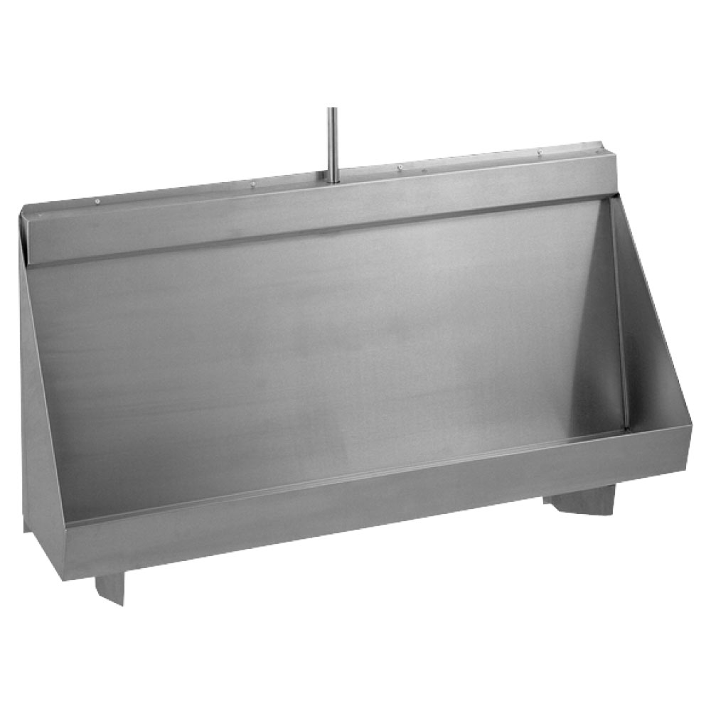 Franke 1500mm Centinel G20123N Stainless Steel Wall Hung Urinal with Concealed Sparge Pipe + Plastic Cistern