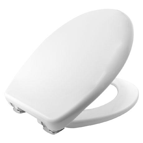 Bemis Venezia Soft Close Toilet Seat with Adjustable Chrome Hinges - 2082CLT000
