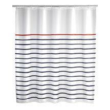 Wenko Marine Polyester Shower Curtain - W1800 x H2000 - White - 20964100 Medium Image