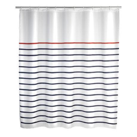 Wenko Marine Polyester Shower Curtain - W1800 x H2000 - White - 20964100