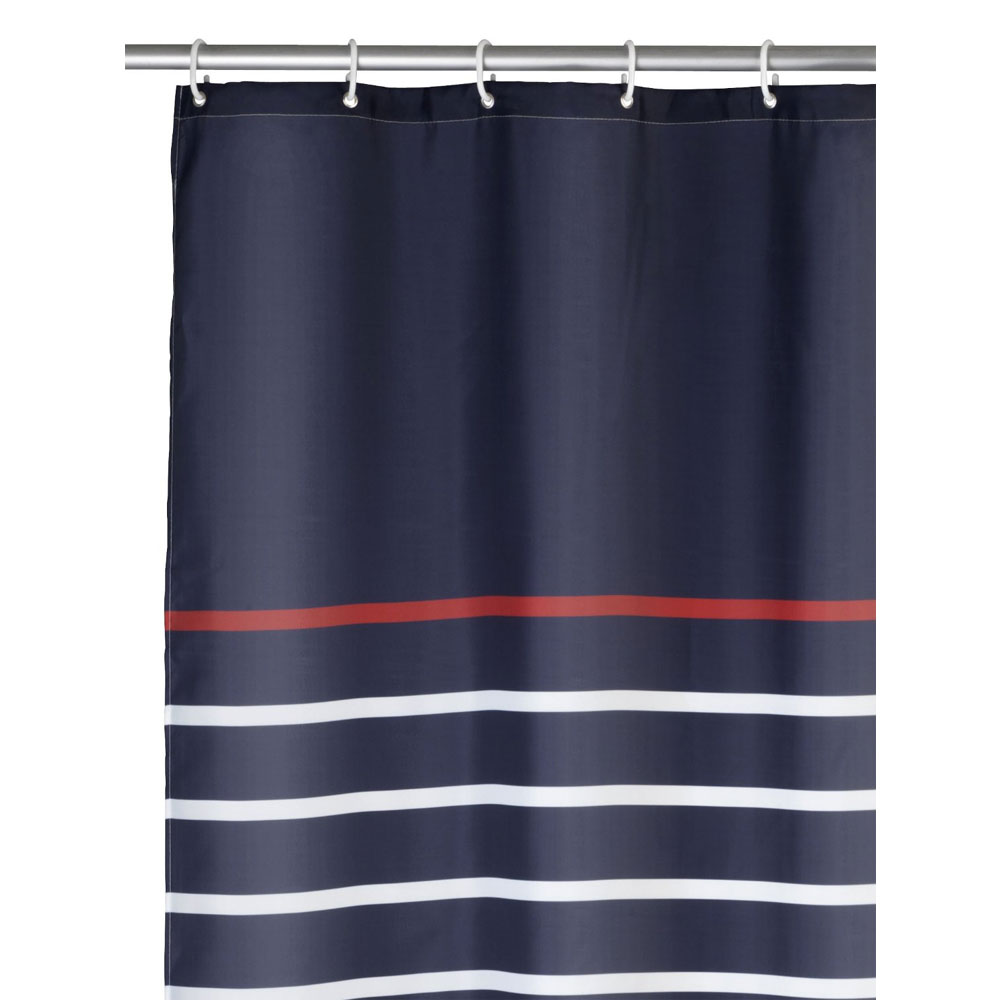 Wenko Marine Polyester Shower Curtain - W1800 x H2000 - Blue - 20965100 Feature Large Image