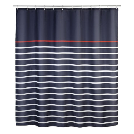 Wenko Marine Polyester Shower Curtain - W1800 x H2000 - Blue - 20965100