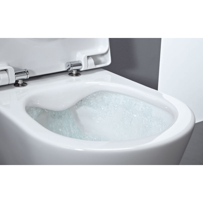 Laufen - Pro Rimless Wall Hung Pan with Antibacterial Seat Feature Large Image