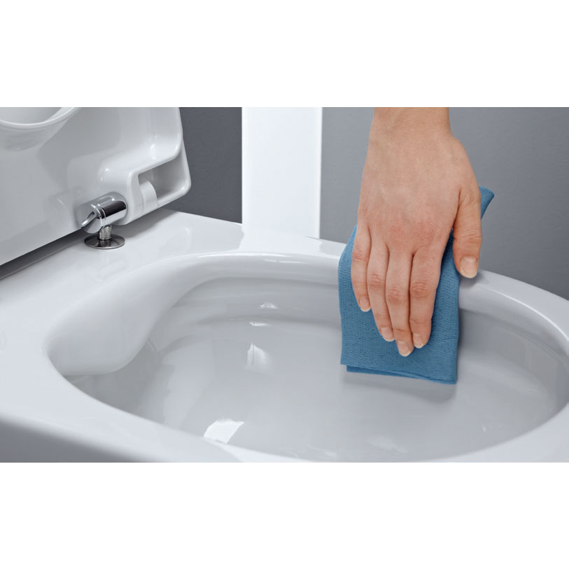 Laufen - Pro Rimless Wall Hung Pan with Antibacterial Seat Standard Large Image