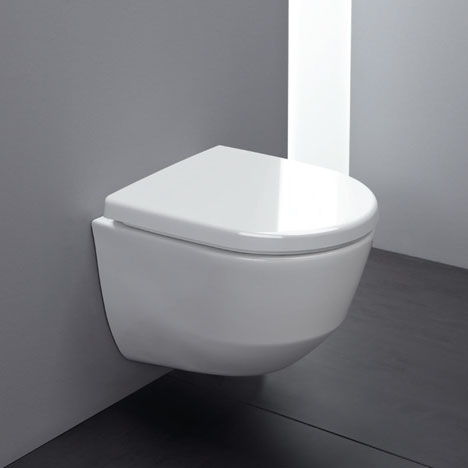 Laufen - Pro Rimless Wall Hung Pan with Antibacterial Seat In Bathroom Large Image