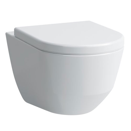 Laufen - Pro Rimless Wall Hung Pan with Antibacterial Seat profile large image view 1