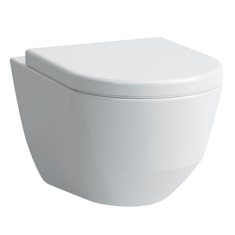Laufen - Pro Rimless Wall Hung Pan with Antibacterial Seat