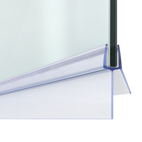 Bath Shower Screen Door Seal Strip - Glass 4-6mm / Gap 20mm
