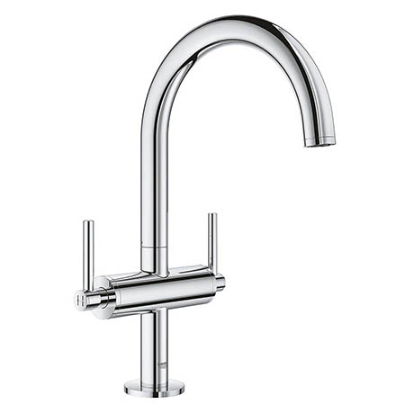 Grohe Atrio Lever L-Size Mono Basin Mixer with Click Clack Waste - Chrome - 21022003