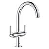 Grohe Atrio Lever L-Size Mono Basin Mixer with Click Clack Waste - Chrome - 21022003 profile small image view 1