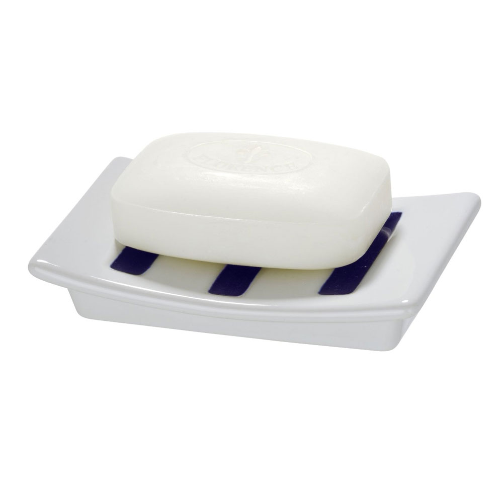 Wenko Marine Ceramic Soap Dish - White - 21052100 Profile Large Image