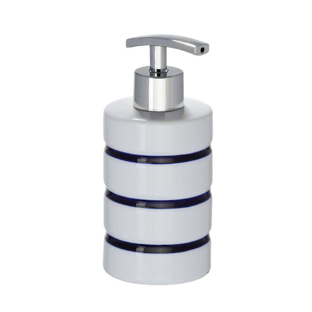 Wenko Marine Ceramic Soap Dispenser - White - 21053100 Large Image