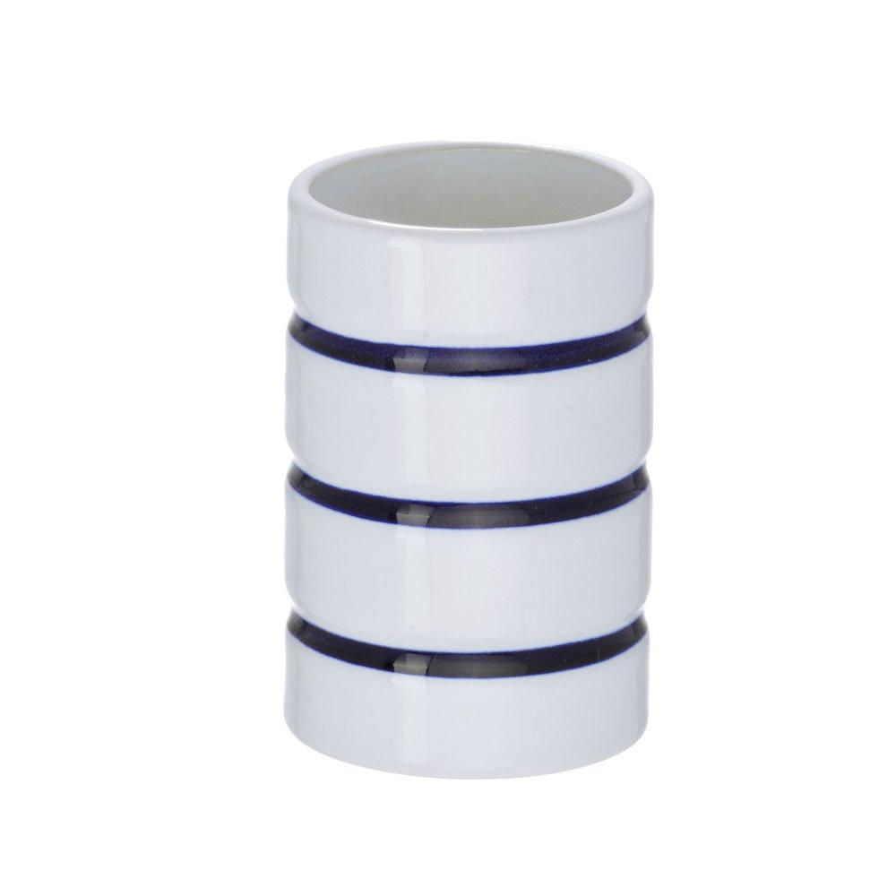 Wenko Marine Ceramic Tumbler - White - 21054100 Profile Large Image